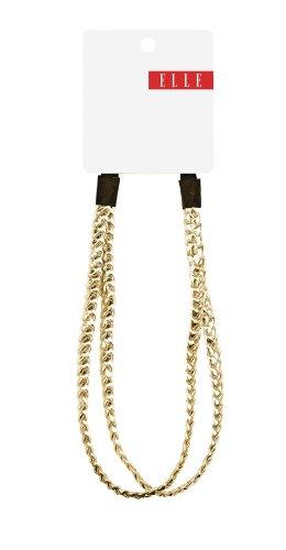 Elle Gold Split Braided Headwrap, Gold