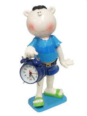 BLOW FISH Boy Alarm Clock, 12 Inches Tall