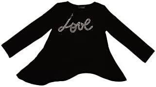 Kate Mack Girl39s 7-16 Little Rebel quotLovequot Top Black
