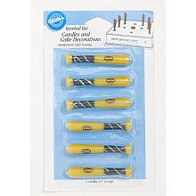 WILTON BASEBALL BAT 6-Piece Candle Set 2811-750