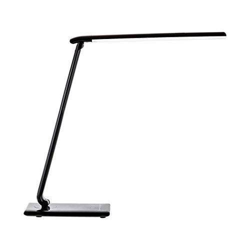 SEBSON-LED-Schreibtischlampe-dimmbar-schwarz-Touch-USB-5-Lichtfarben-12W-650lm