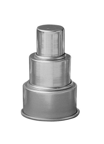 Parrish Magic Line 3-Tier One Piece Mini Round Aluminum Cake Pan