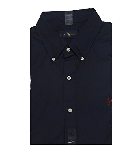 Ralph Lauren Long Sleeve Classic Fit Mens Shirt, Windsor Navy, XL (Polo Classic Fit Button Down compare prices)