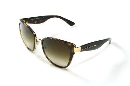 New Dolce&Gabbana D&G Dg 2107 02/13 Gold Havana Men Women Metal Sunglasses