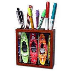 Water Sport - Kayak - Tile Pen Holders-5 inch tile pen holder