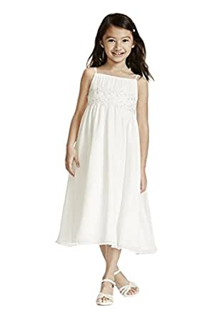 Amazon.com: Spaghetti Strap Chiffon Baby Doll Flower Girl ...