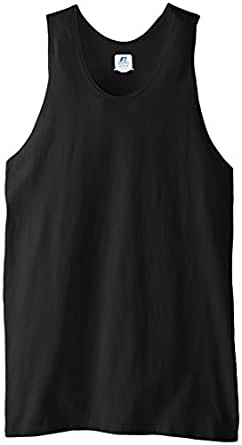 Russell Athletic Men's Basic Cotton Tank, Black, Small