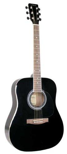 Johnson Jg-620-B 620 Player Series Acoustic Electric Guitar, Black