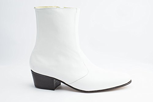 Mens White Leather Boots for Elvis Tribute Artists