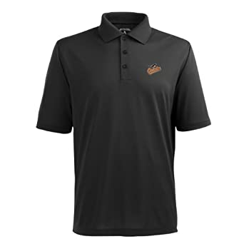 MLB Mens Baltimore Orioles Pique Xtra Lite Desert Dry Polo by Antigua