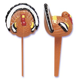 1 X Thanksgiving Turkey Cupcake Picks - 12 ct - 1