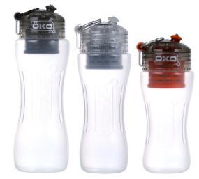 Three sizes of bottles