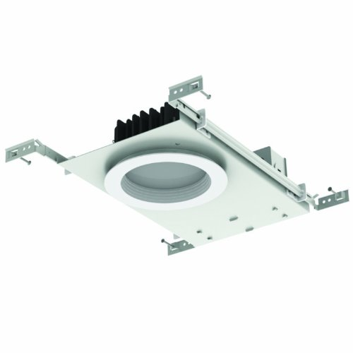 "Sunlite 89050-Su Mks/Ndl/5R/20W/30K Advanced Led 5"" Recessed Downlight For New Construction, 20 Watt, Round White Baffle Trim, 3000K"
