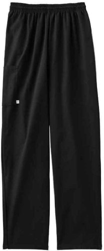 Five Star 18100 Adult's Pull-On Baggy Pant Black X-Large (Five Star Chef Apparel compare prices)
