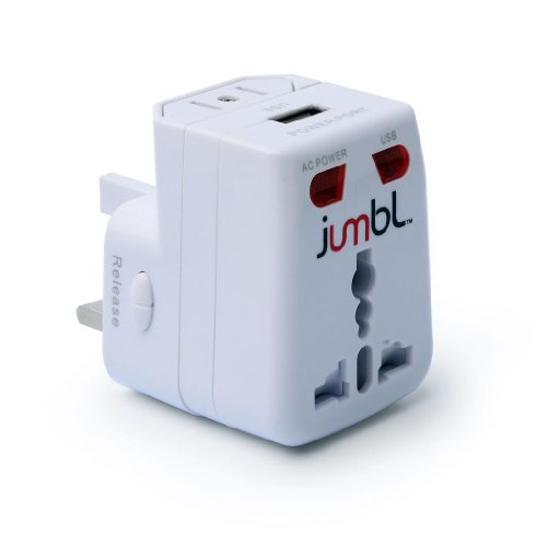 Jumbl™ Universal Worldwide International Travel Ac Plug Adapter With Usb Port