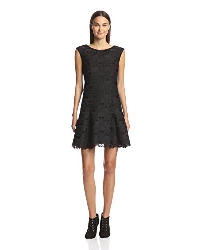 Anna Sui Women's Checker Lace Cap Sleeve Dress