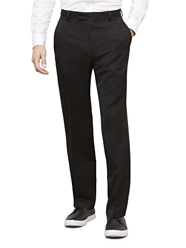 Kenneth Cole Reaction Men's Textured Stria Flat Front Pant,