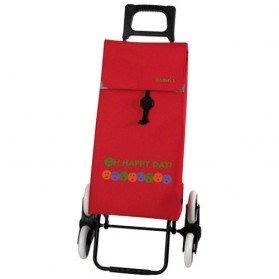 poussette de march happy day 6 roues rouge chariots. Black Bedroom Furniture Sets. Home Design Ideas