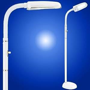 Amazoncom bluemax 42 watt full spectrum reading and task for Task floor lamp white