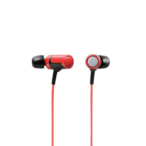 Logitec Bluetooth4.0対応 ワイヤレスステレオイヤホン 超小型 高音質コーデック aptX対応 レッド LBT-AVHPC30RD
