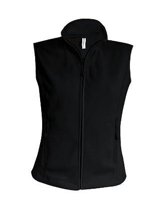 Ladies Fleece Weste Melodie, Größe:S;Farbe:Black