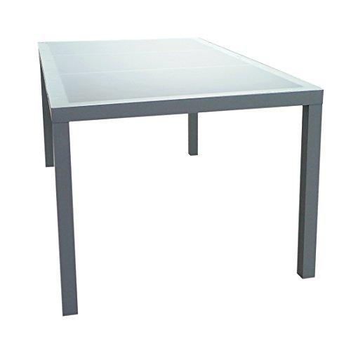 Gartenfreude-2700-1013-Aluminium-Tisch-mit-Glasplatte-160-x-90-x-72-cm
