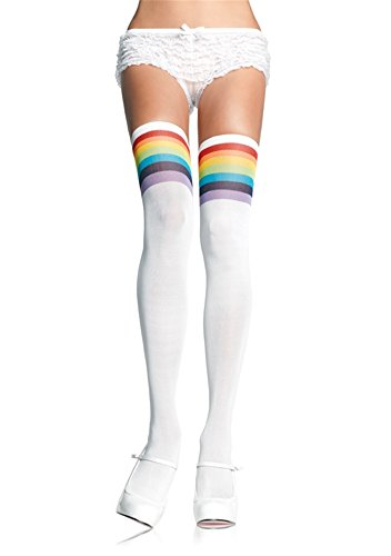 Women Over The Rainbow Opaque Thigh High Stockings & Sweater