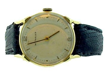 Vintage Wittnauer 14k Gold Men's Wrist Watch