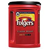 Folgers Classic Roast Coffee, 48 Ounce (1 Container) (Color: Red, Tamaño: Classic Medium 48oz)