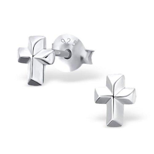 Laimons - Orecchini motivo croce - argento Sterling 925