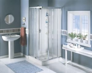 Big Save! Sterling Plumbing CI2900A-32S/W Economy 32-Inch x 32-Inch x 72-Inch Corner Shower Kit with...