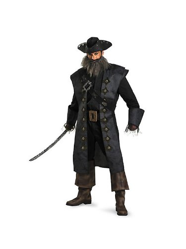 Black Beard Women's Deluxe Pirates of the Caribbean Costume