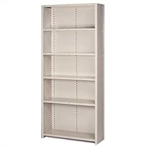 "8000 Series Closed Shelving - 6 Shelves: 84"" H x 36"" W x 24"" D Color: Dove Gray, Section Type: Starter (4 posts), Shelf Type: 18-Gauge Extra heavy-duty"