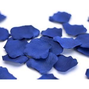 200 Royal Blue Silk Rose Petals Wedding Party Favors, Brand New