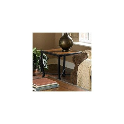 Image of 5565 Series End Table in Distressed Gun Metal Gray (5565-04)