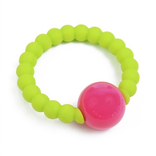 Chewbeads Mercer Rattle Chartreuse