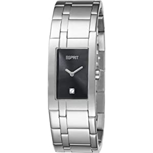 Buy Esprit Houston 10 Women s Quartz Watch Grey Dial Analogue Display and  Silver Stainless Steel Bracelet aec501f85e7