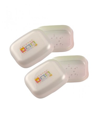 Mee Mee SOAP DISH MM-3733 White Pack of 2