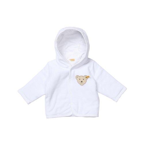 Steiff Unisex Baby (0-24 Monate) Jacke  1/1 Arm, Weiß (Bright White), 86 (Herstellergröße: 86)