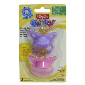 Playtex Baby Binky Angled Latex Pacifiers(Colors May Vary) front-190425
