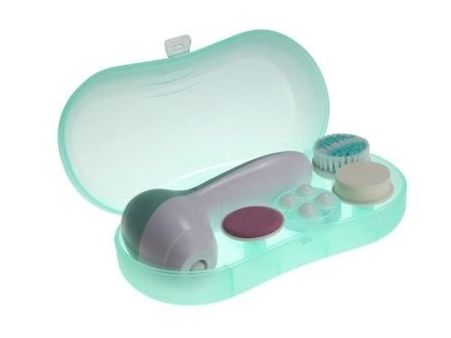 Huini Multifunction 4-In-1 Electric Facial & Body Brush Spa Cleaning Set Green
