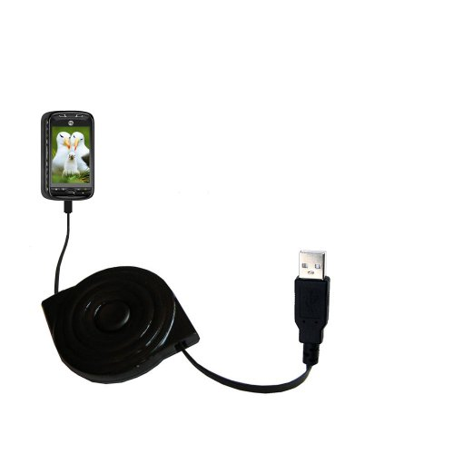 Retractable USB Power Port Ready charger cable designed for the T-Mobile MyTouch 3G Slide and uses TipExchange