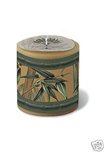 Hawaii Decal Candle Bamboo 3 x 3 in.