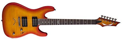Dean Guitars C350 Tab Custom 350 Electric Guitar, Trans Amber Burst