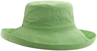 Scala Women's Cotton Big Brim Hat, Lime, One Size