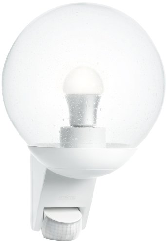 Steinel-Sensor-Auenleuchte-L-585-wei-mit-180-Bewegungssensor-und-12-m-Reichweite-klassisches-Design-mundgeblasenen-Glaskrper-ideal-fr-Hausfronten-und-Eingnge-005917