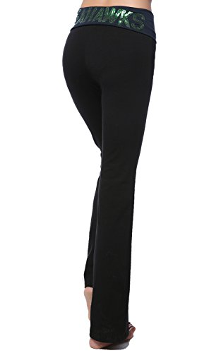 Womens Pink Victoria s Secret NFL Seattle Seahawks Yoga Pants (Black ... 2b283dcf2