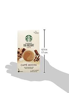 Starbucks VIA Latte - Caffe Mocha (5 Single Serve Packets) net weight 6.53 oz (185g) from Starbucks