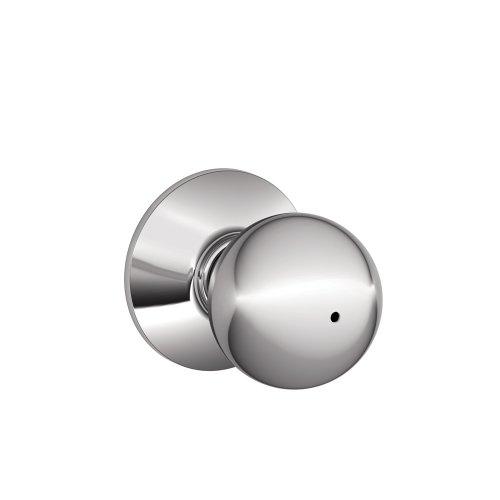 Schlage F40ORB625 Orbit Privacy Knob, Bright Chrome (Chrome Bathroom Door Knob compare prices)