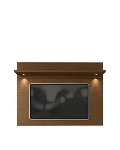 Manhattan Comfort Cabrini TV Panel 1.8, Nut Brown
